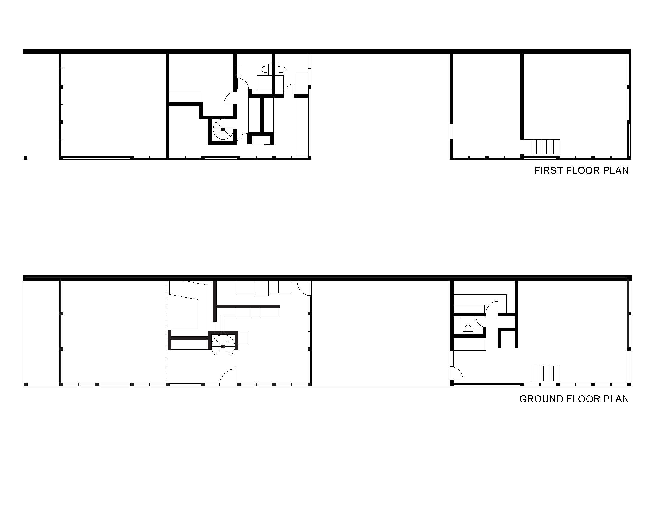 Eames House - ground and first floor digital plans